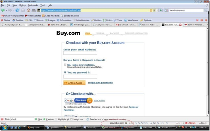 FoleyFunctional » Blog Archive » Walmart has no security for sending